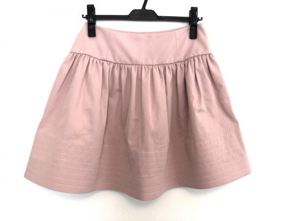 レオ バレンチノ ミニスカート サイズ40 M レディース新品同様  ピンク タグ付き