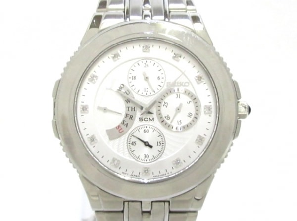 SEIKO(セイコー) 腕時計美品  6G34-00A0 メンズ シルバー