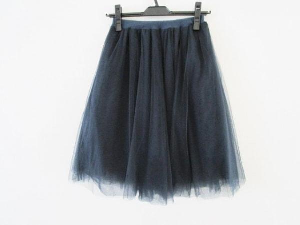 FRAY I.D(フレイアイディー) スカート サイズ0 XS レディース ネイビー チュール
