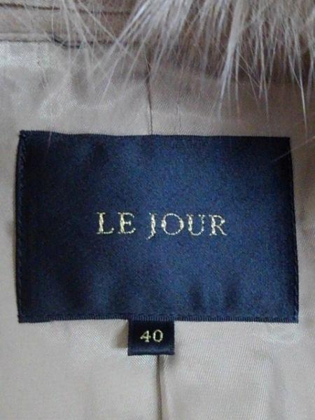 LEJOUR(ルジュール) コート サイズ40 M レディース ライトブラウン ファー/冬物