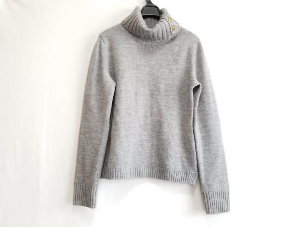 バーバリーブルーレーベル 長袖セーター サイズ38 M レディース美品  グレー