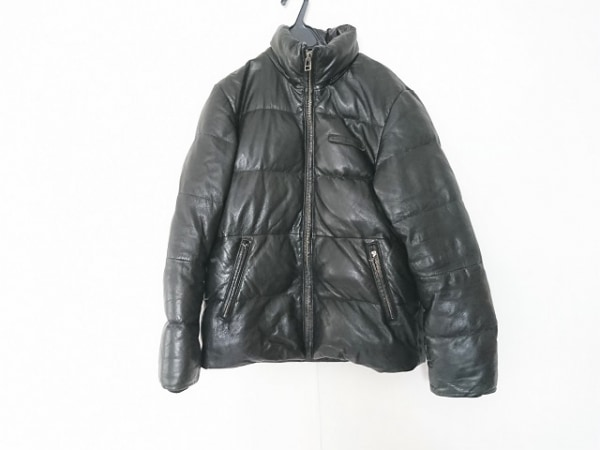 AVIREX(アビレックス) ダウンジャケット サイズL メンズ 黒 冬物/レザー