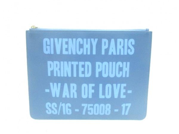 GIVENCHY(ジバンシー) クラッチバッグ - ブルー レザー