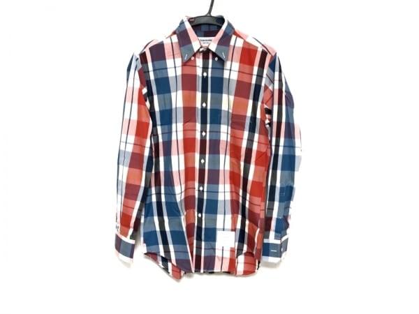トムブラウン 長袖シャツ サイズ2 M メンズ美品  ブルー×レッド×マルチ チェック柄