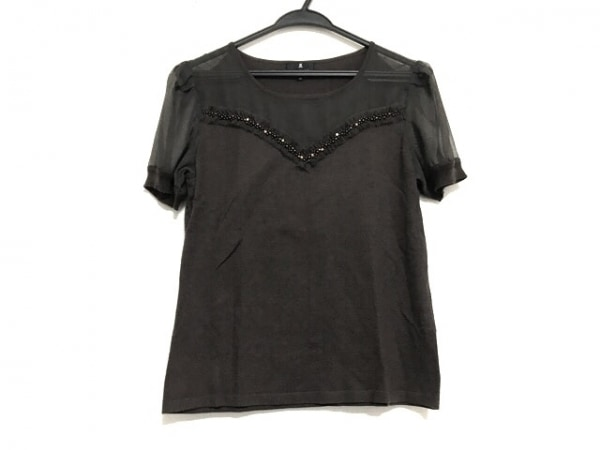 ランバンコレクション 半袖セーター サイズ38 M レディース美品  ダークブラウン