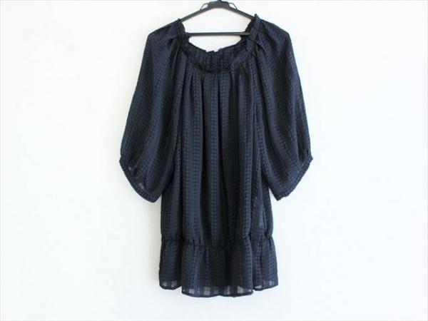 ナラカミーチェ 半袖カットソー サイズ4 XL レディース美品  黒×ダークグレー