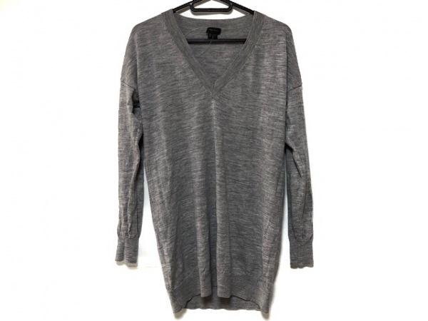 theory(セオリー) 長袖セーター サイズS メンズ美品  グレー