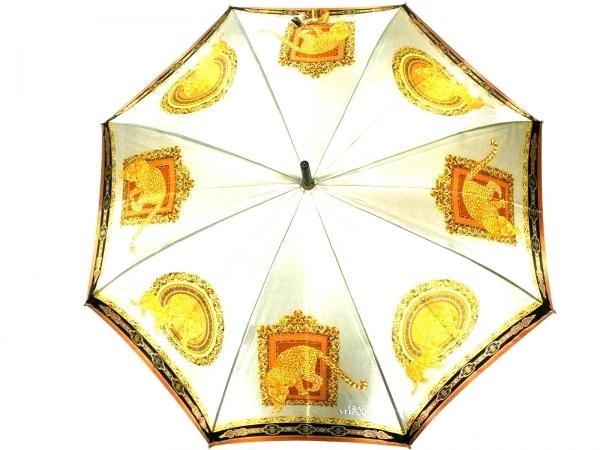 ジャンニヴェルサーチ 傘 ベージュ×ライトブラウン×マルチ 豹 化学繊維
