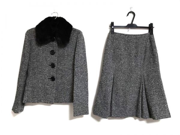 INED(イネド) スカートスーツ サイズ9 M レディース美品  黒×白