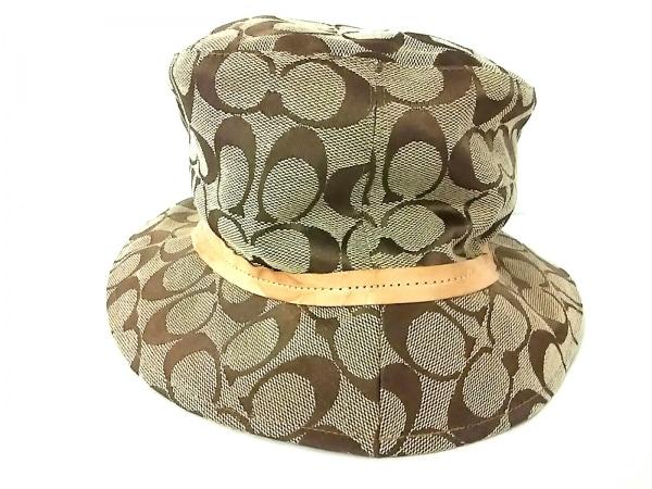 COACH(コーチ) 帽子 P/S カーキ×ライトブラウン ポリエステル×コットン