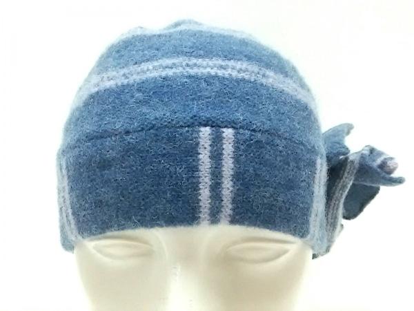 MARC JACOBS(マークジェイコブス) ニット帽美品  ブルー×パープル ウール