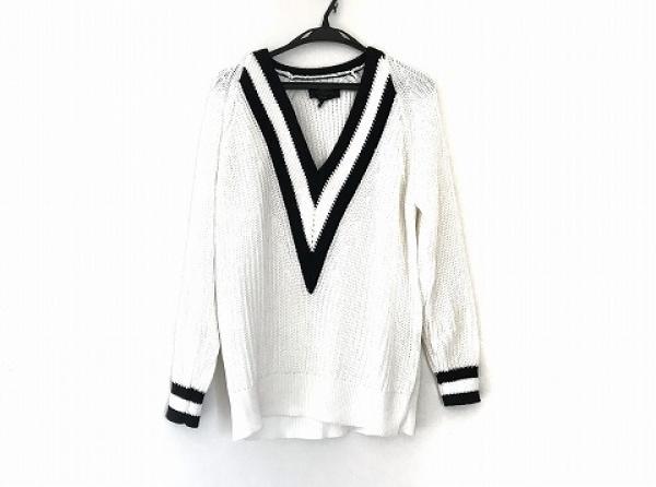 rag&bone(ラグアンドボーン) 長袖セーター サイズS メンズ 白×黒