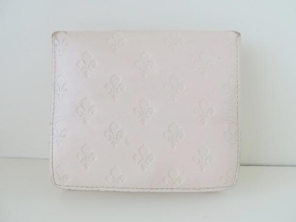 PATRICK COX(パトリックコックス) Wホック財布 ベージュ 型押し加工 レザー