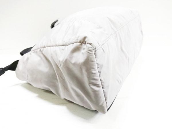 PAPILLONNER(パピヨネ) トートバッグ グレー×黒 ナイロン×プラスチック