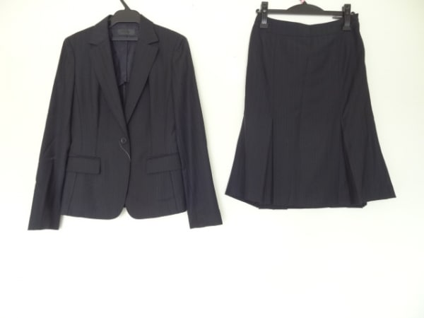 ICB(アイシービー) スカートスーツ サイズ7 S レディース美品  黒×グレー