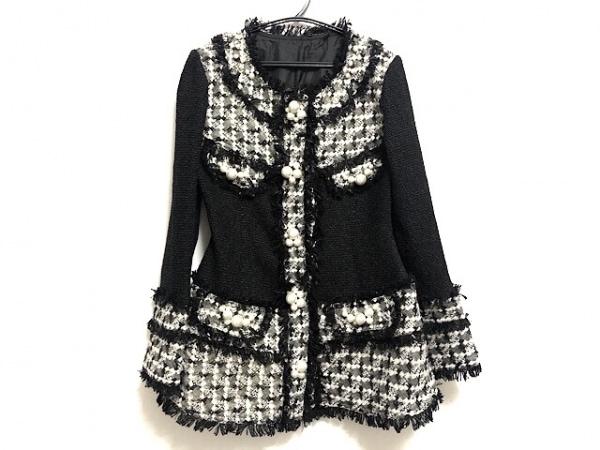NOKO OHNO(ノコオーノ) ジャケット サイズ38 M レディース美品  黒×白