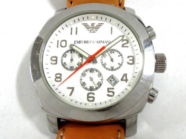 EMPORIOARMANI(アルマーニ) 腕時計 AR-5814 メンズ 革ベルト/クロノグラフ シルバー