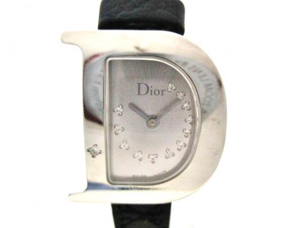 ディオール 腕時計美品  シンプリー CD101111 レディース 13Pダイヤ/革ベルト