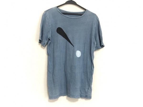 サタデーズ サーフ ニューヨーク 半袖Tシャツ サイズXS レディース ライトブルー×黒