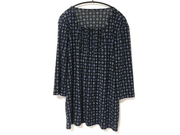 Leilian(レリアン) ワンピース サイズ13 L レディース美品  黒×ブルー×パープル
