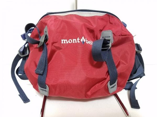 mont-bell(モンベル) ウエストポーチ レッド×ネイビー ナイロン