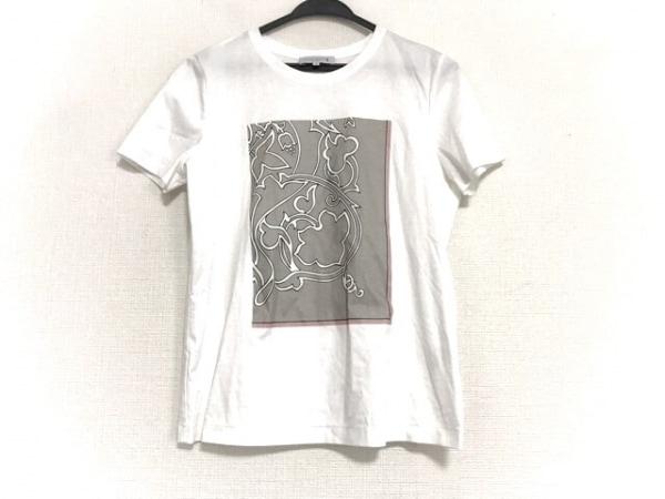 マッキントッシュ 半袖Tシャツ サイズ38 M レディース美品  白×グレー×マルチ ラメ