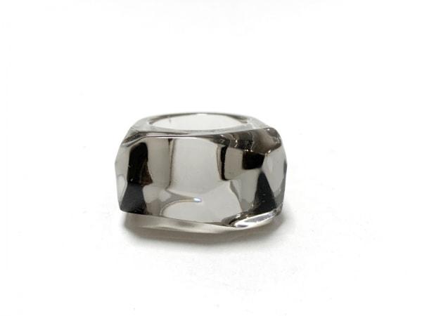 Baccarat(バカラ) リング美品  クリスタルガラス グレー