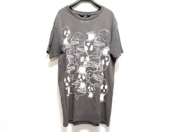 マークバイマークジェイコブス 半袖Tシャツ サイズM メンズ ダークグレー×白