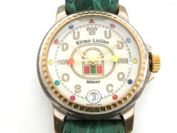リトモラティーノ 腕時計 - レディース 革ベルト/ドーム型風防 アイボリー