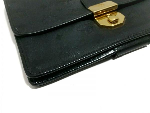 MCM(エムシーエム) セカンドバッグ美品  黒 PVC(塩化ビニール)×合皮
