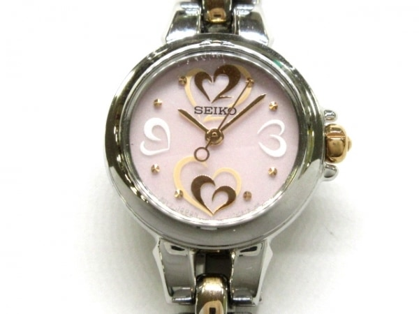 SEIKO(セイコー) 腕時計 V117-0BB0 レディース ハート ピンク×白