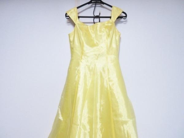 aimer(エメ) ドレス サイズ9 M レディース美品  イエロー×ライトグリーン