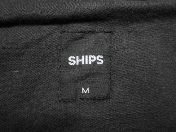 SHIPS(シップス) コート サイズM メンズ ダークグレー 冬物/ジップアップ/ファー