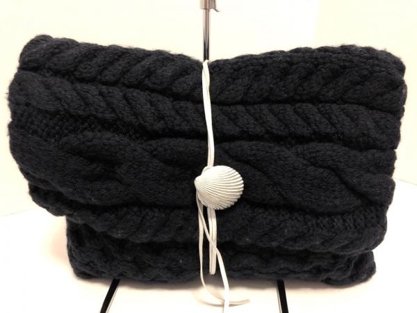 Sieste Peau(シエスタポー) クラッチバッグ美品  黒×白 ウール