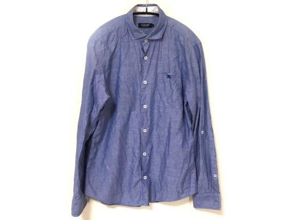 バーバリーブラックレーベル 長袖シャツ サイズ2 M メンズ ライトブルー