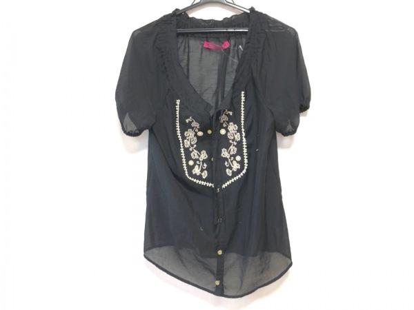 DOLLY GIRL(ドーリーガール) チュニック サイズ2 S レディース 黒 刺繍