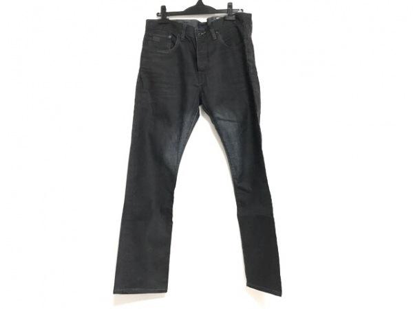 ジースターロゥ ジーンズ サイズ34L32 メンズ 黒×ネイビー 3301/ボタンフライ
