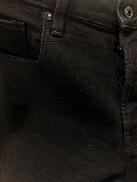 G-STAR RAW(ジースターロゥ) ジーンズ メンズ 黒 3301/ボタンフライ