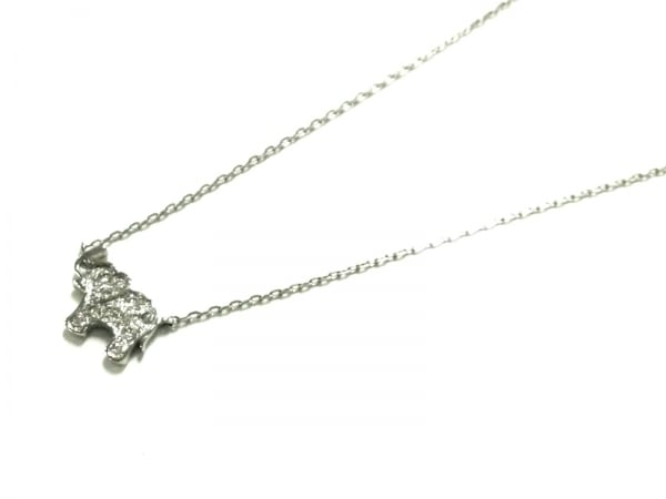 STAR JEWELRY(スタージュエリー) ネックレス美品  K18WG×ダイヤモンド 0.05カラット
