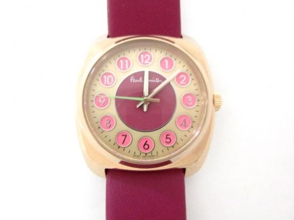 ポールスミス 腕時計美品  1036-T024785 レディース 革ベルト ゴールド×ピンク