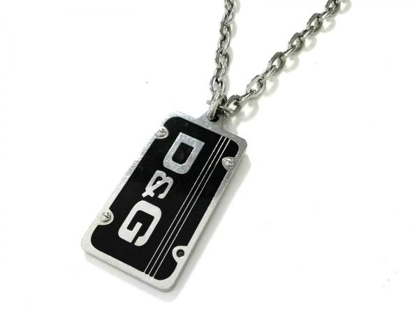D&G(ディーアンドジー) ネックレス美品  金属素材 シルバー×黒