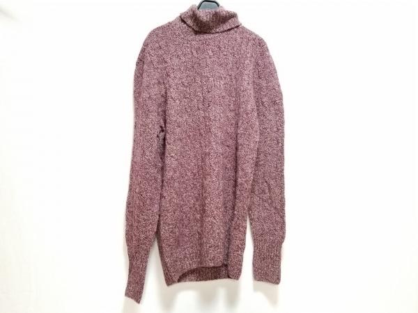 Drumohr(ドルモア) 長袖セーター サイズ50 メンズ ボルドー×ベージュ タートルネック