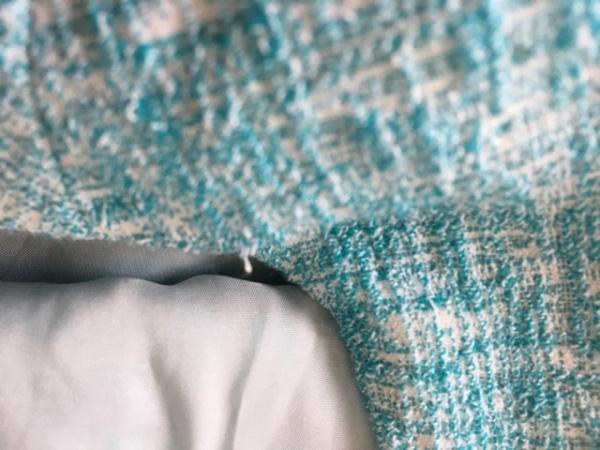デュアルヴュー ワンピース サイズ40 M レディース美品  ライトブルー×アイボリー