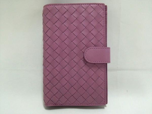 BOTTEGA VENETA(ボッテガヴェネタ) 2つ折り財布新品同様  - - ピンク レザー