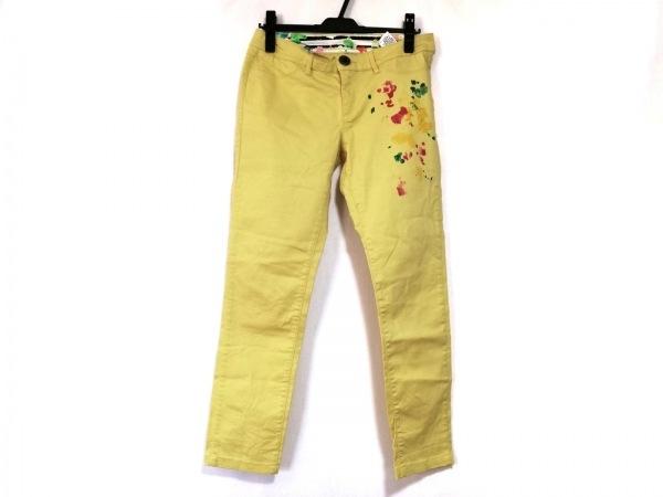 Desigual(デシグアル) パンツ サイズ28 L レディース イエロー ペイント