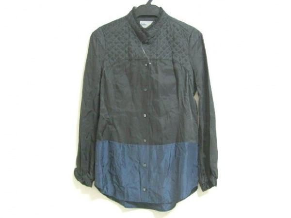 kolor(カラー) 長袖シャツブラウス サイズ1 S レディース 黒×ネイビー