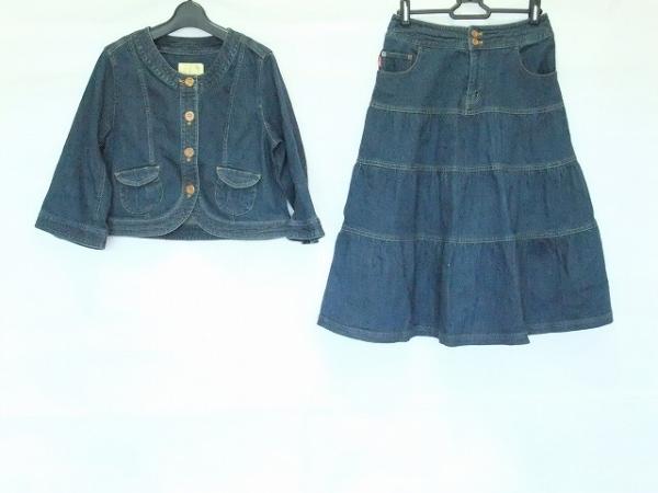 PINK HOUSE(ピンクハウス) スカートスーツ サイズM レディース ネイビー デニム