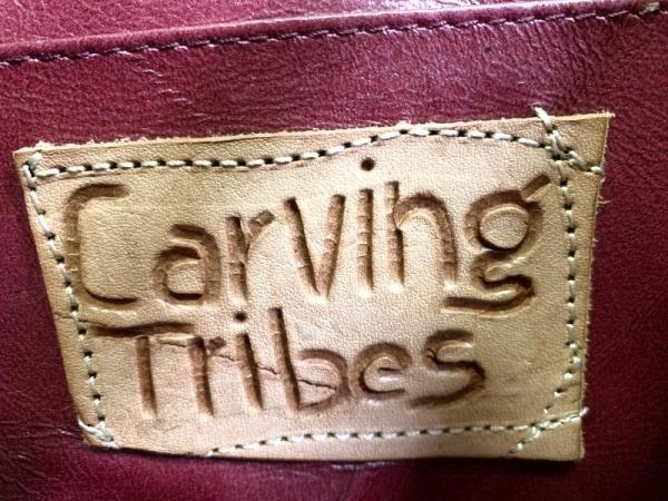 Carving Tribes(カービングトライブス) ハンドバッグ ボルドー 型押し加工 レザー