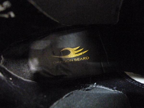 ドラゴンベアード ショートブーツ 7 1/2 B メンズ 黒×シルバー スタッズ