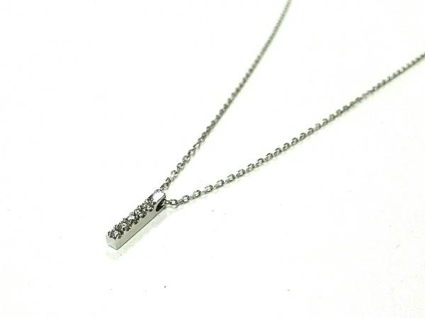 PERLITA(ペルリータ) ネックレス美品  K18WG×ダイヤモンド 5Pダイヤ/0.04カラット